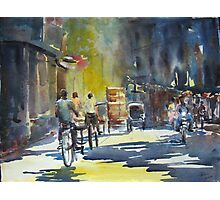 Three cyclists Photographic Print
