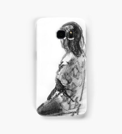 Figurative study in charcoal Samsung Galaxy Case/Skin