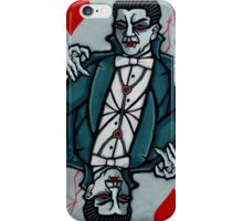 Dracula, Vampire King of Hearts iPhone Case/Skin