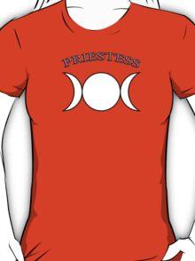 Priestess Triple Moon Goddess - Pagan Wiccan Goth T-Shirt
