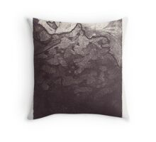 Dog on the Abyss Throw Pillow