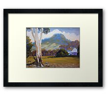 Farm with Large Gum Tree Framed Print