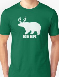 BEER Deer Bear humor  T-Shirt