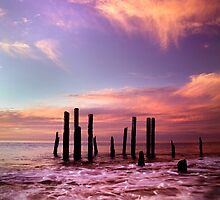 Wave Motion - Port Willunga. by Steve Chapple
