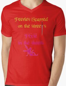 Peerless Scarred/Pixie Mens V-Neck T-Shirt