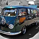 Green Volkswagen Kombi Van by Ferenghi