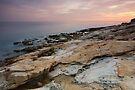 Mediterranean dusk at Bau Rouge beach by Patrick Morand