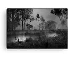 The Burnoff in B&W Canvas Print