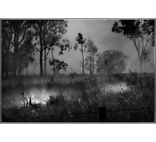 The Burnoff in B&W Photographic Print