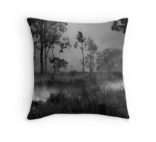 The Burnoff in B&W Throw Pillow