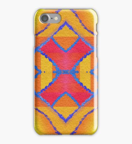Kaleidoscopic Pattern in Vibrant Red, Green and Yellow  iPhone Case/Skin