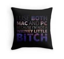 Mac or PC?? I Use Both! Throw Pillow