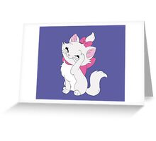 Marie Cleaning - The Aristocats Greeting Card