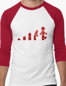 Evolution of Lego Man Men's Baseball ¾ T-Shirt