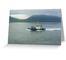 Leaving Stromness  Greeting Card