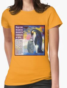 Papa's milk (Emperor penguin) Womens Fitted T-Shirt