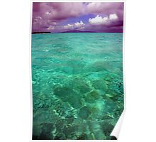 Turquoise waters Poster