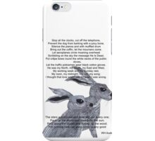 TWO HARES and AUDEN iPhone Case/Skin