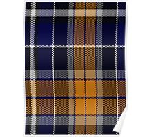 00346 Monaghan County, Crest Range District Tartan Poster