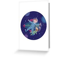 Space friends Greeting Card