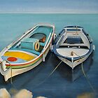 Mediterranean Fishing Boats by Claire Aberlé