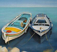 Mediterranean Fishing Boats by WhiteSpirits
