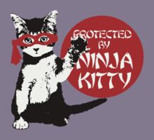 Protected by Ninja Kitty Kids Clothes