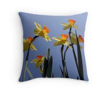 Yellow flowers in my garden. Throw Pillow