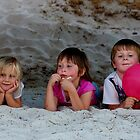 Kids At The Beach by Deborah Jones