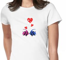 Kissing Angels Womens Fitted T-Shirt