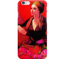 The Gypsy Skirt, oil painting on stretched canvas iPhone Case/Skin