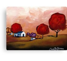 The Red Trees Canvas Print