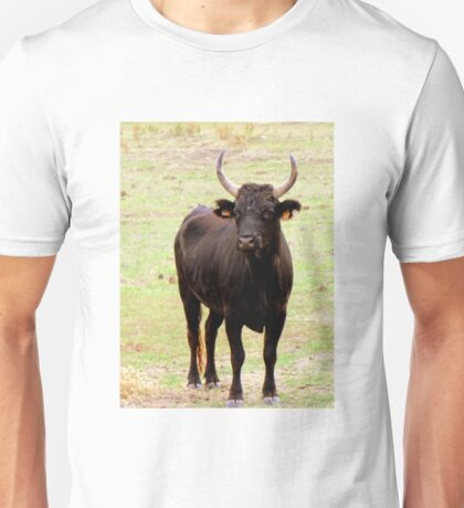 Will be a great fighter! - Young Camargue bull Unisex T-Shirt