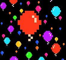 Pixel Balloons by Snaflein