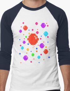 Pixel Balloons Men's Baseball ¾ T-Shirt