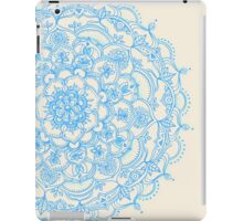 Pale Blue Pencil Pattern - hand drawn lace mandala iPad Case/Skin