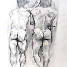 Two Boys Backs by Arzeian