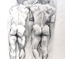 Two Boys Backs by Arzeian