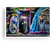 Dalek in Hosier Lane Canvas Print