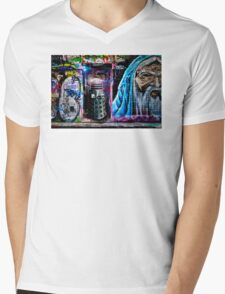 Dalek in Hosier Lane Mens V-Neck T-Shirt
