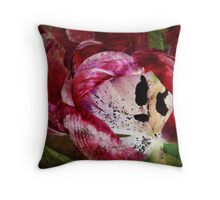 Requiem for a Tulip - Collaboration with monocotylidono Throw Pillow