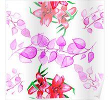 Floral motifs Poster