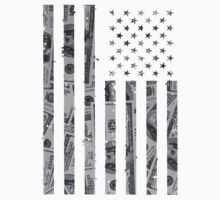 American Flag Money One Piece - Long Sleeve