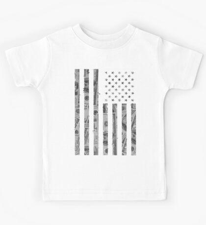 American Flag Money Kids Tee