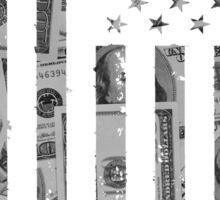 American Flag Money Sticker