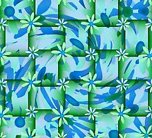Blue/Green Daisy Chain by Margaret Stevens