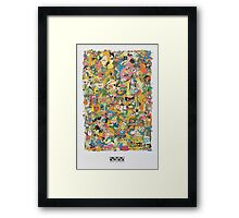Cartoon Network Collage Framed Print