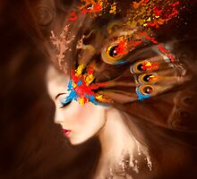 Fantasy Portrait beautiful woman butterfly by Alena Lazareva