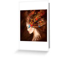 Fantasy Portrait beautiful woman butterfly Greeting Card