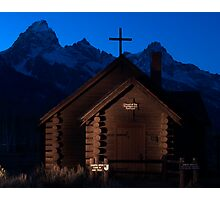 Lightpainting Chapel of the Transfiguration Photographic Print